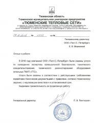 """Отзыв ТМУП """"Тюменские тепловые сети"""""""
